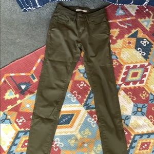 Levis normal length army green jeans